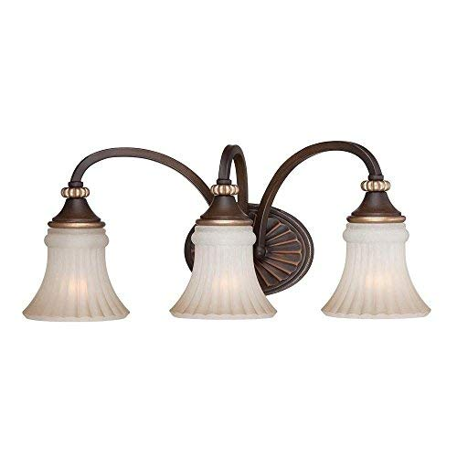 Hampton Bay Reims 3-Light Berre Walnut Vanity Fixture