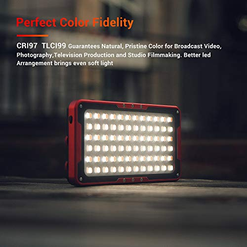 Iwata Pro 144 LED Bi-Color Dimmable On-Camera Led Video Light, OLED Screen, CRI97 TLCI99 Accurate Color, 2600-6000K Adjustable, 7500lux@0.3M High Brightness, Aluminum Body with PERGEAR Tripod by iwata-Tech (Image #2)