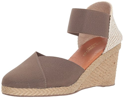 (Andre Assous Women's ANOUKA Espadrille Wedge Sandal, Taupe, 9 M US)