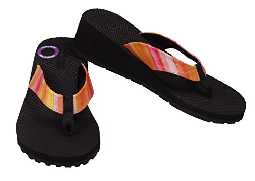 Speedo Women's Bermuda Wedge Sandals (8, Orange/Yellow)