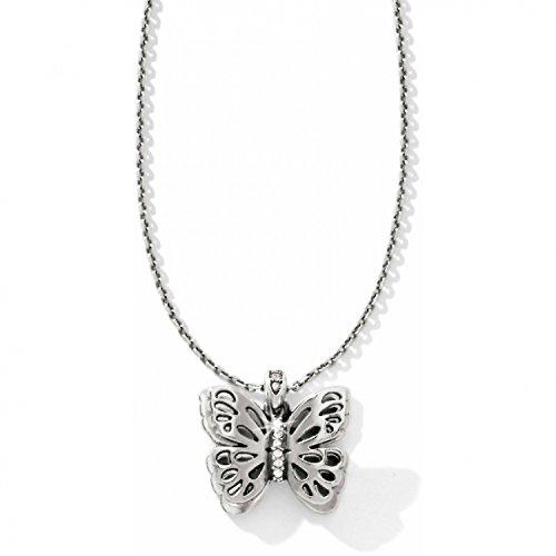 Brighton Secret Garden Butterfly Silver Necklace (Garden Brighton)