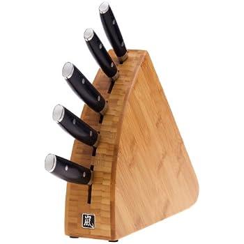 Amazon Com Yaxell Ran 6 Piece Block Set Chefs Knives