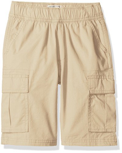 (The Children's Place Boys' Pull-on Cargo Shorts, Sand Wash, 8 Slim)