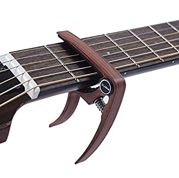 LaDicha Guitarra Capo Madera Grano Metal para La Guitarra Ukelele ...