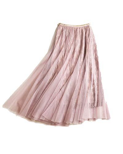 Kasen Femme Jupes Maxi Longue Jupe Haute Taille Tulle Pink
