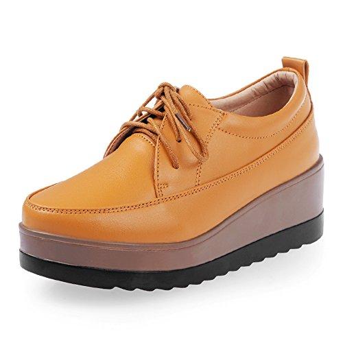 la caída de la plataforma de los zapatos/Señora cuñas/zapatos casuales de alto confort/Zapatos de plataforma del cabezal redondo blanco B