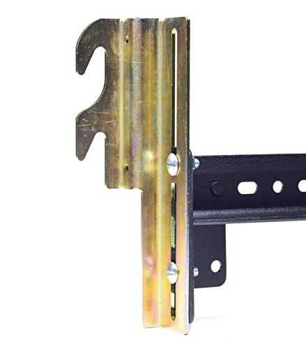 Ronin Factory Hook On Bed Frame Brackets Adapter for Headboard Extra Heavy Duty, Set of 2 Brackets with Hardware, 711 Bracket, Bolt-On to Hook-On - Hardware Headboard Bed