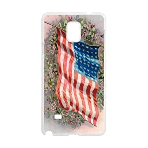 Fashion Lovely Butterfly Design The American Flag Into The Sky Samsung Galaxy note 4 Case Cover (Laser Technology)