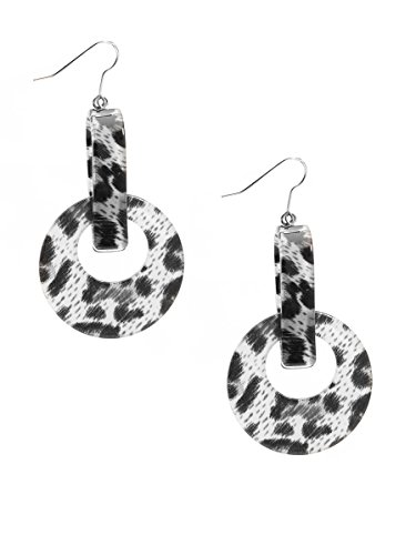 ZENZII Resin Door Knockers Earrings (Leopard Gray)