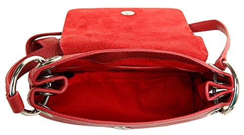 Linda Echt bandoulière Rouge Bugatti Sac Femme à Leder qxHnt1Z