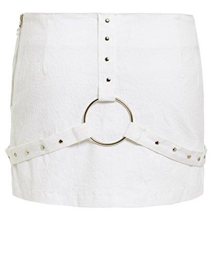 Femmes Mini 14 Tailles 8 Blanc Noir Ss7 À Jupe Nouvelles Blanc aAqHEn5w