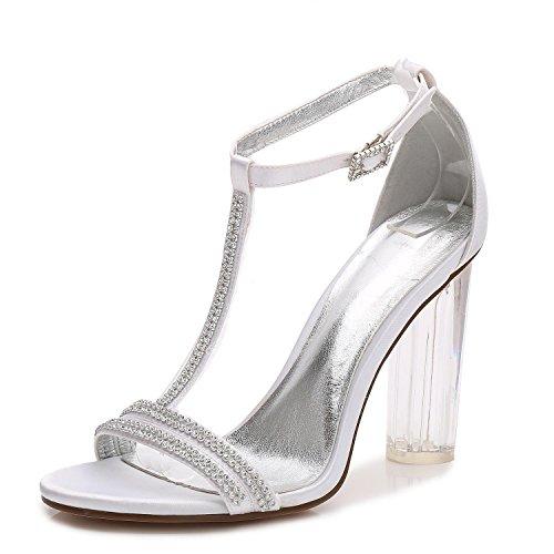 Chaussures 11 F Taille Talon white Femmes Haut De Mariage Parti MariéE Pompes De Classique Dames De Court 2615 Prom L YC tBpwUU