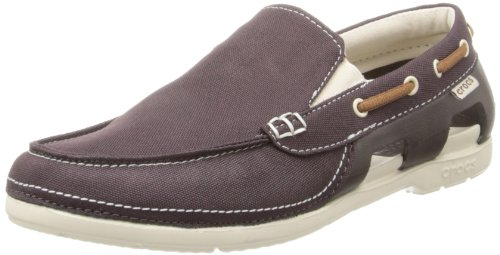 Stucco Beach Espresso Line Men's Crocs Boat Shoes gFdYBxqw