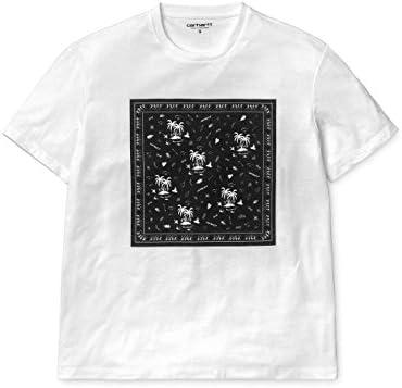 CARHARTT WIP - Camiseta de mujer W S/S Ann Boondock - Camiseta blanca con impresión de palmeras, bianco, L: Amazon.es: Deportes y aire libre