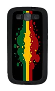 Samsung S3 Case,VUTTOO Cover With Photo: Rasta Flag For Samsung Galaxy S3 I9300 - TPU Black