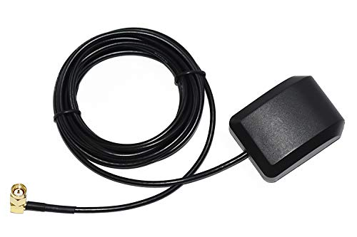 Waterproof GPS Active Antenna 28db LNA Gain, SMA Male Plug Aerial Extension Cable, Stronger ()
