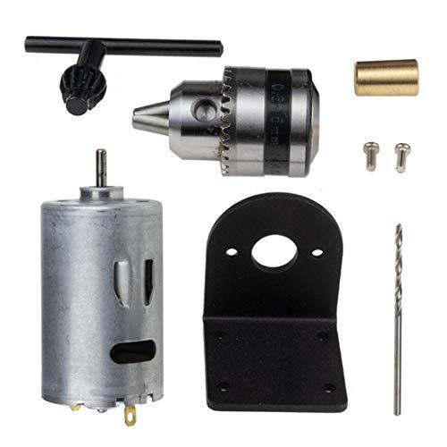 EsportsMJJ 5V-12V draaimachine 555 motor met microboorhouder en montagebeugel