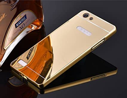 online store f925b 98f7b MOBICLONICS Arcylic Mirror back+Metal Bumper Cover for: Amazon.in ...