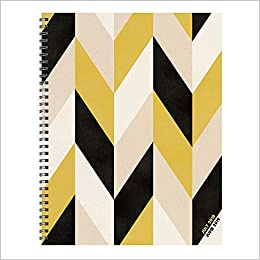 tf publishing 19 9781a july 2018 june 2019 geometric large weekly monthly planner 9 x 11 beige black gold