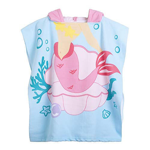 (Kids Hooded Beach Bath Towel for Age 2-7 Years - Swim Pool Coverup Poncho Cape Multi-use for Bath/Shower/Pool/Swim 24