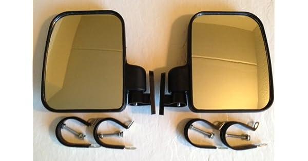 Amazon.com: Vista lateral Espejo Set Fits Polaris y rollo de ...