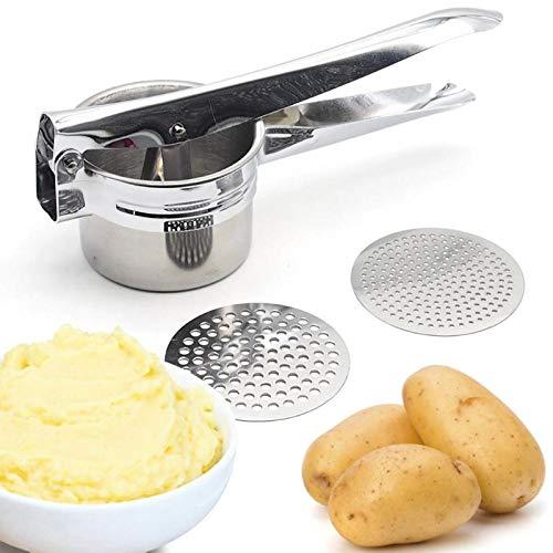 Potato Mashers & Ricers Potato Masher Ricer Press Mashed Potatoes Stainless Steel Crushing Potatoes Puree Fruit Vegetable Juicer Press Maker Tool by American-Car
