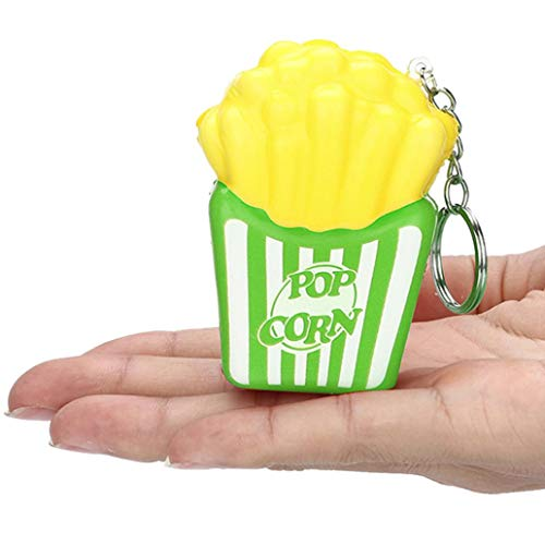 (CreazySquishies French Fries Slow Rising Cream Scented Keychain Stress Relief Toys (Green))