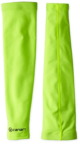 Canari Cyclewear Men's Veloce Arm Warmers, Killer Yellow, X-Large - Canari Leg Warmer