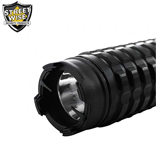 Diamondback Adjustable 13M Extendable Stun Gun 5 Mode Flashlight Rechargeable and Replaceable Batteries with Free Survival Whistle, Holster and Hard Shell - Gun Diamondback