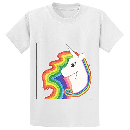 Price comparison product image Mcol Unicorns And Rainbows Teen Crew Neck Customized Tees White