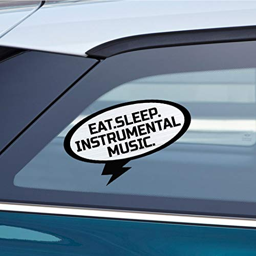 EAT SLEEP INSTRUMENTAL MUSIC Music Musician Car Laptop Wall Sticker Decal - 3.5'by6'(Small) or 5'by9'(Large)