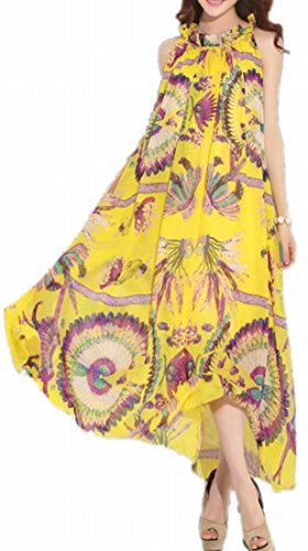 Long Picture Sleeveless Jaycargogo Loose Dress Print Fit Floral Maxi Womens As YxqSAw6