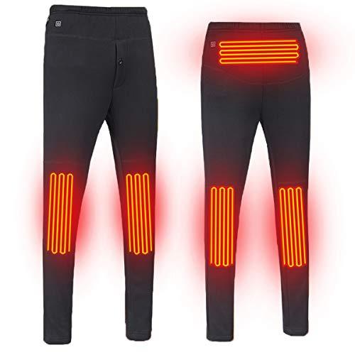 Unilove Lightweight Heated Pants Outdoor Hiking Fleece Heated Warm Pants USB Electric Winter Snow Heated Pants for Men/Women(Men-Black,M)