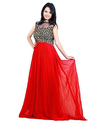 8355898527c SHREEJI FASHION RAVINA RED GOWN: Amazon.in: Clothing & Accessories