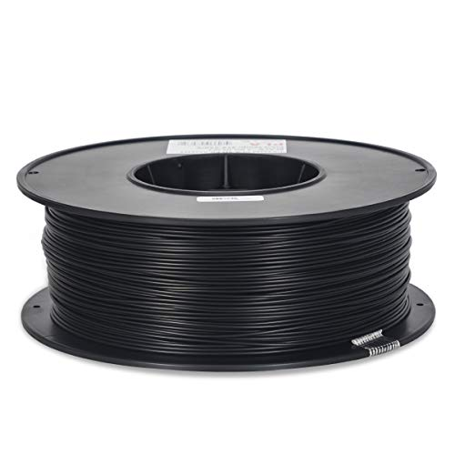Inland 1.75mm Black PLA 3D Printer Filament - 1kg Spool (2.2 lbs)