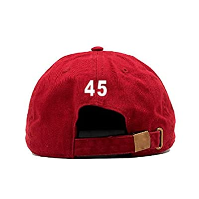 TRUMP 45 Embroidered Baseball Cap Dad Cap White / Red