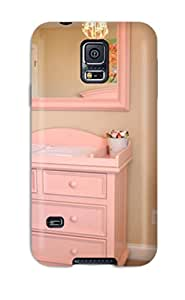 Top Quality Case Cover For Galaxy S5 Case With Nice Girls Nursery Soft Pink Changing Table And Mirror Appearance