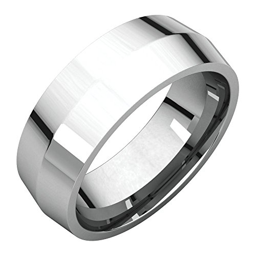 Wedding Bands, Platinum 7mm Knife Edge Comfort Fit Band