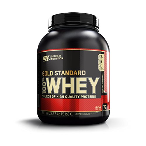 Optimum Nutrition Gold Standard 100% Whey Protein Powder, Delicious Strawberry, 5 Pound