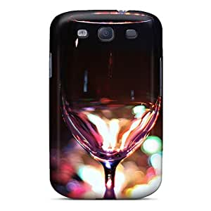 AlainTanielian Samsung Galaxy S3 Protective Hard Phone Cases Provide Private Custom Nice Clear Wine Glass Image [Lbz9616qZNo]