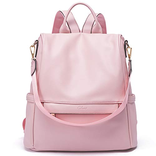 Women Backpack Purse Fashion Leather Large Travel Bag Ladies Shoulder Bags Pink