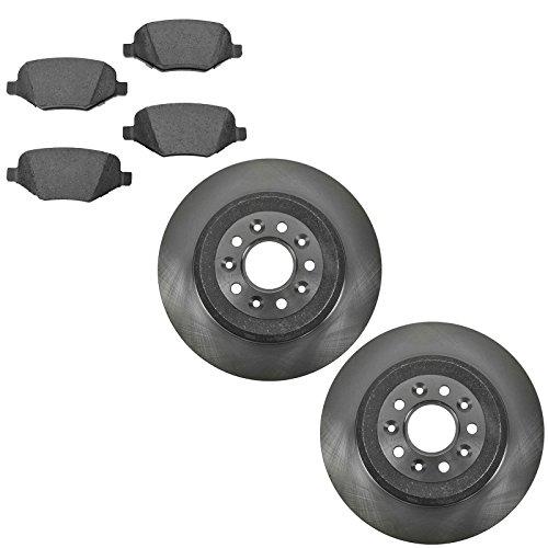(Rear Brake Rotor & Premium Posi Ceramic Pad Kit for Ford Edge SUV)