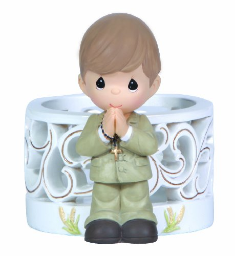(Precious Moments First Holy Communion LED Figurine Boy Figurine)