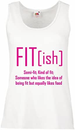 lepni.me Womens Tank Tops Fit - Ish Definition. Exercise - Workout - Gym, Sarcastic Gift Idea, Funny Weightloss Sayings