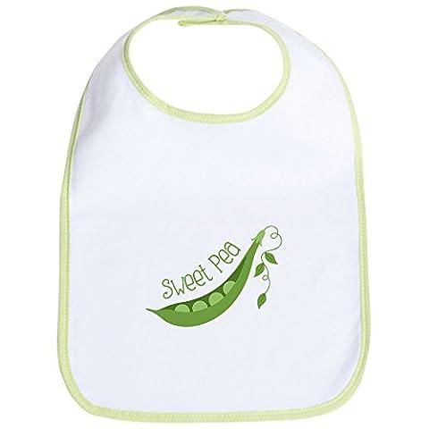 CafePress - Sweet Pea - Cute Cloth Baby Bib, Toddler Bib - Sweet Pea Baby Shower