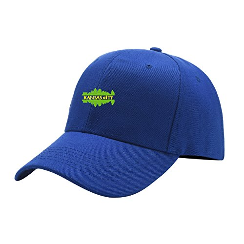 NeeKer Kansas City Blue Peaked Hat Embroidered Logo Adjustable Dad Cap ()