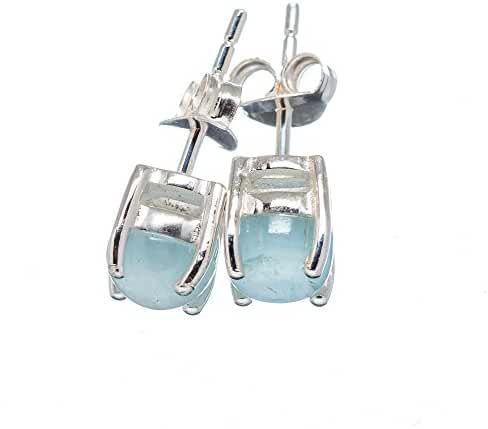 Ana Silver Co Natural Aquamarine 925 Sterling Silver Earrings 1/8