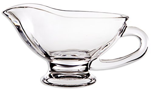 Home Essentials Home Essentials Tablesetter 10oz Glass Gravy Boat, Clear ()