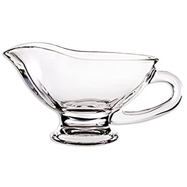 Home Essentials Home Essentials Tablesetter 10oz Glass Gravy Boat, Clear