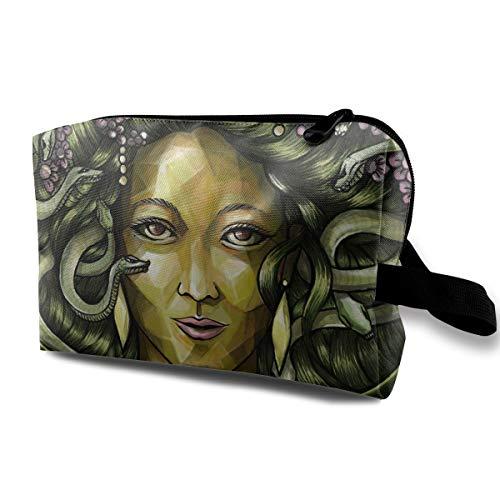 Halloween Medusa Snake Multi-function Travel Makeup Toiletry Coin Bag Case ()